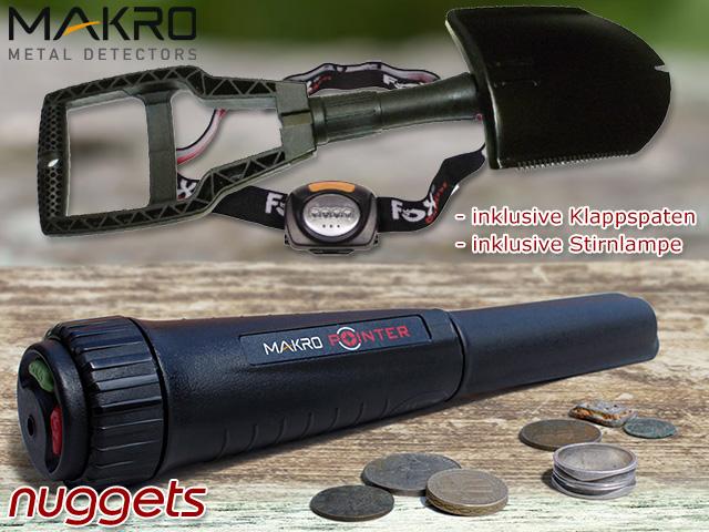 MakroDetector Makro Detector Makro Pointer PinPointer Probe Premium Set Bundel nuggets24com