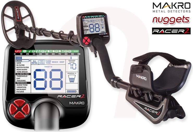 Makro Macro Racer2 Racer 2 www.nuggets24.de Metalldetektor Online Shop kaufen
