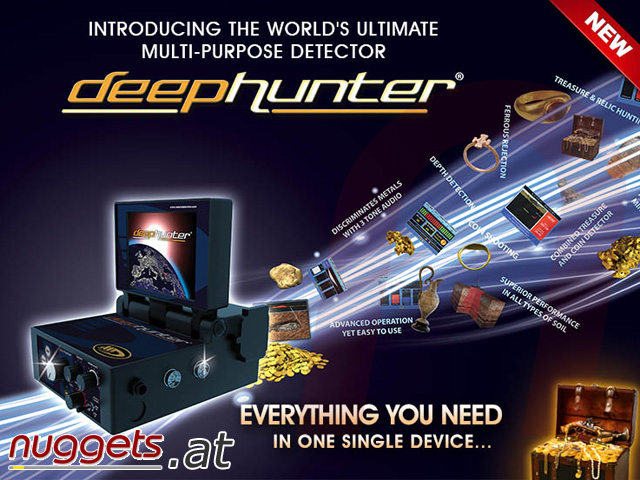 DeepHunter Deep Hunter 3-D Metal Detector www.nuggets.at