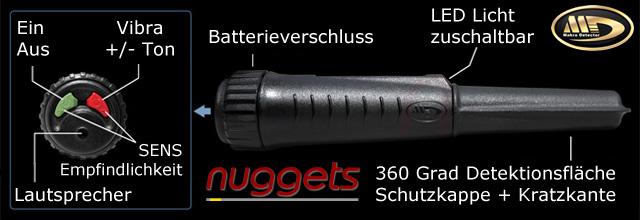 MakroPointer Pin Pointer bei nuggets.at Metal Detector Online Shop