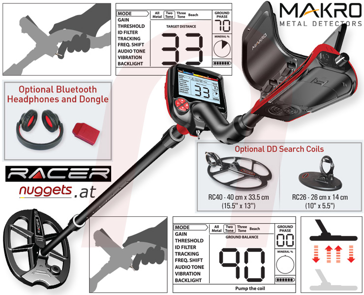MakroDetector Racer www.nuggets.at Metal Detector Super Store