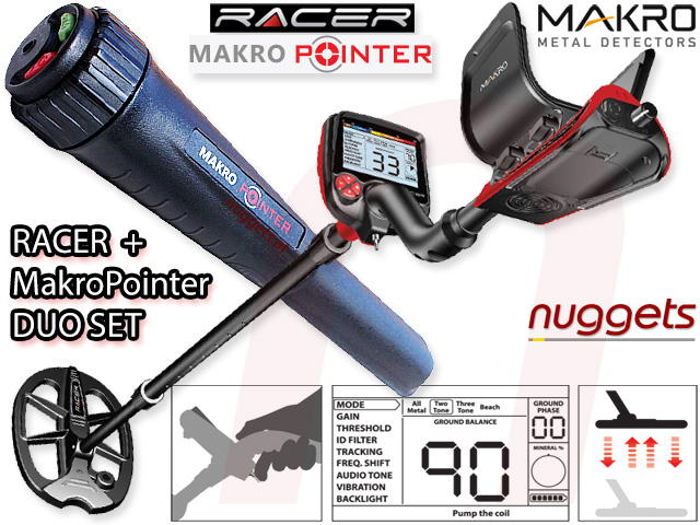 Makro Racer + Makro Pointer SET bei nuggets im Metalldetektor Online Shop