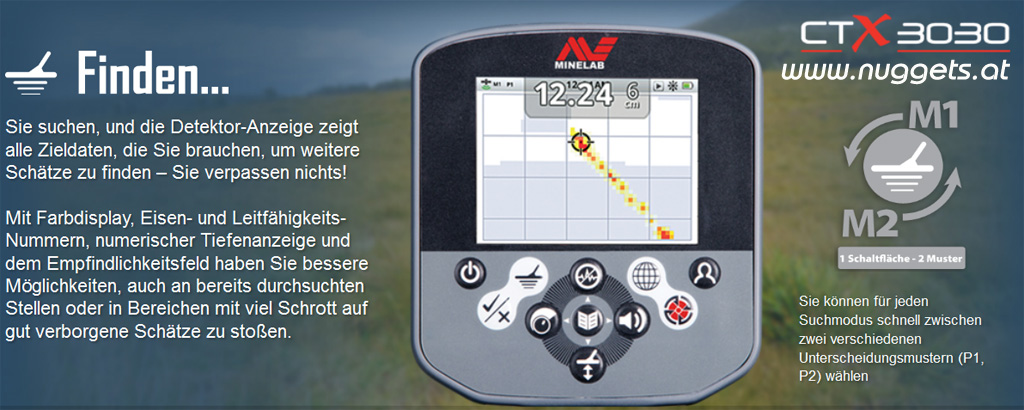 MINELAB CTX 3030 Metalldetektor Metal Detector OnlineShop www.nuggets.at