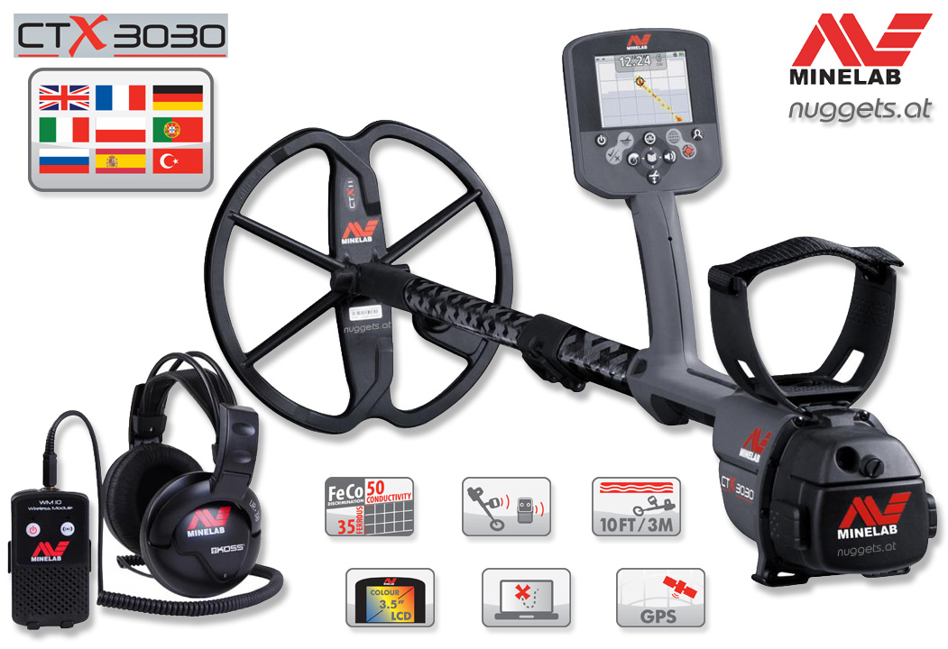 Minelab CTX 3030 CTX3030 Metalldetektor www.nuggets.at