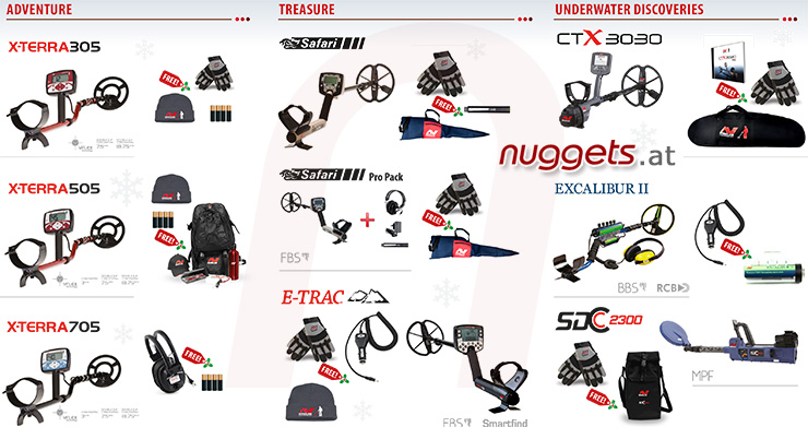 Minelab christmas Metal Detector Promotion www.nuggets.at