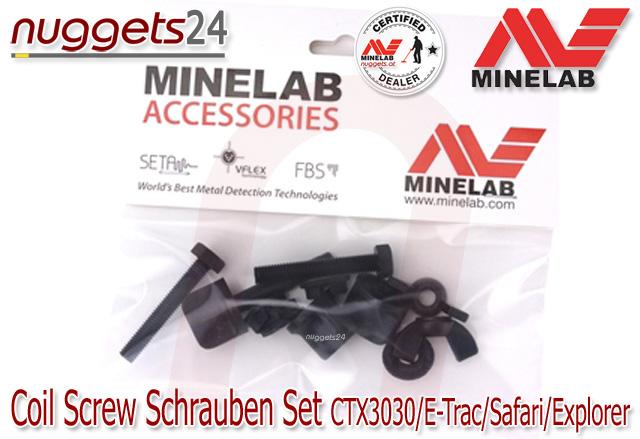 Minelab Coil Srew Spulenschrauben Schrauben nuggets24.com
