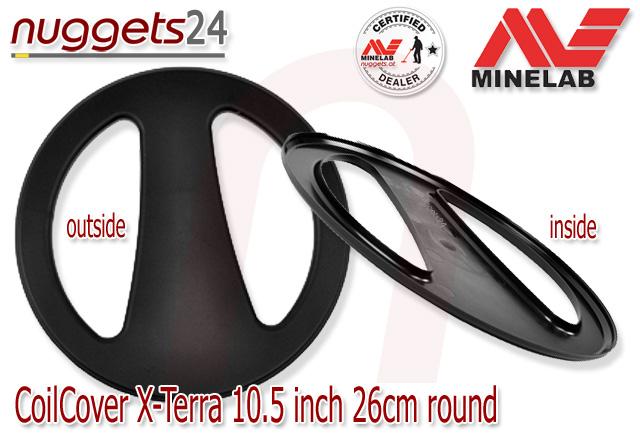 Minelab Coil Cover Skidplate Spulenschutz 10.5 26 cm X-TERRA nuggets24.com