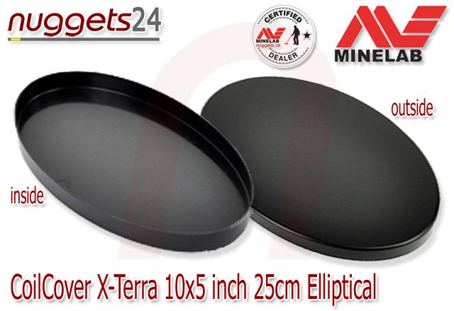 Minelab Coil Cover Skidplate Spulenschutz 10x5