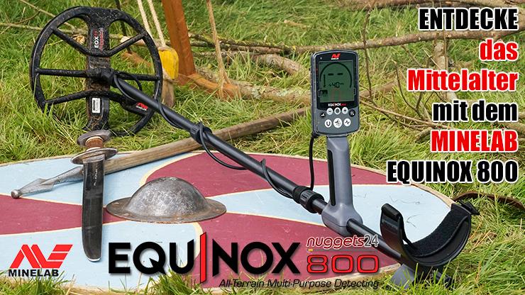 Metalldetektor Neuheit Minelab Equinox bei www.nuggets24.com im Metalldetektoren Shop
