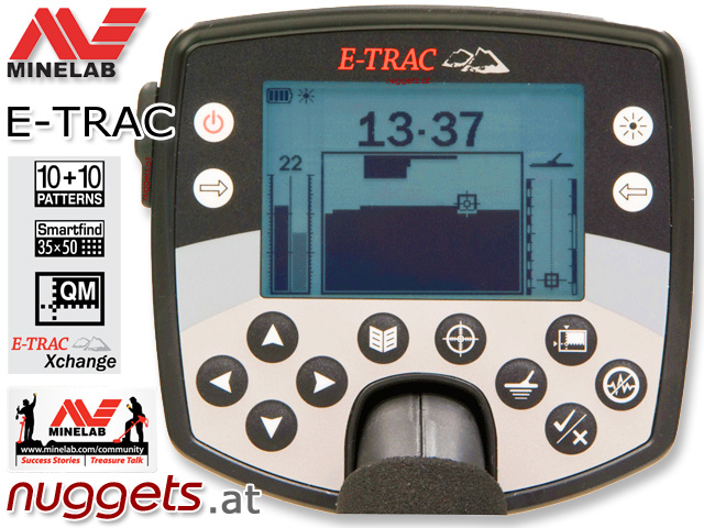 Minelab E-TRAC ETRAC Profi Metalldetektor mit USB www.nuggets.at