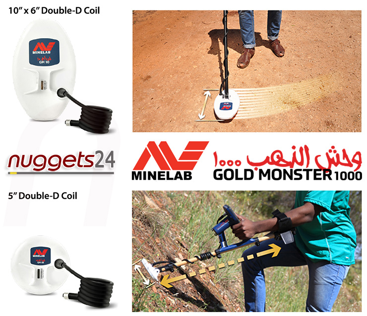 Minelab Gold Monster 1000 Golddetector Prospecting and Searching from nuggets24com