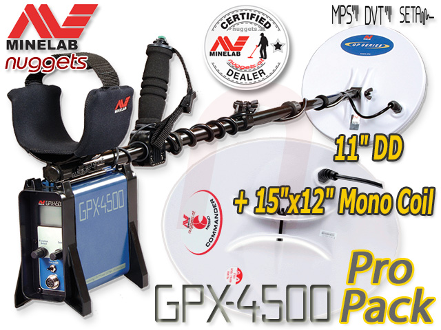 Minelab GPX4500 Duo Coil Pro Pack nuggets24com Gold Metal Detector