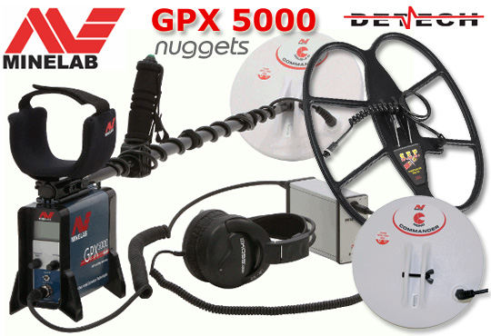 DETECH + MINELAB GPX 5000 SET DEEP GOLD SEARCHING Metal Detector Online Shop www.nuggets.at