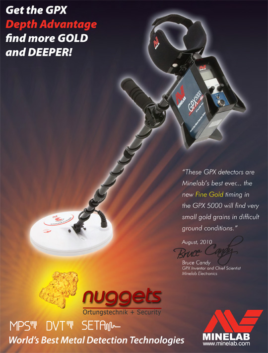 Special Minelab Offers for GPX 5000 4500 4800 OnlineShop www.nuggets.at www.nuggets24.com