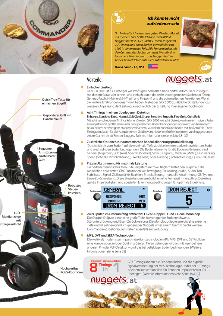 GPX5000 GPX 5000 Minelab Metal Gold Detector Africa www.nuggets.at