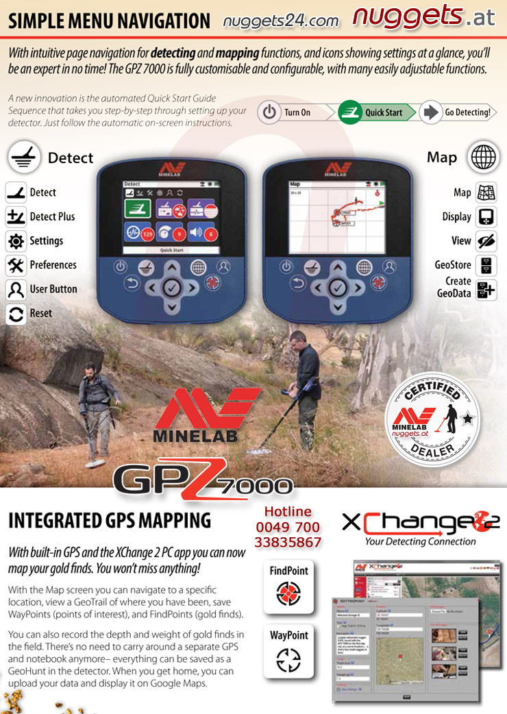 Minelab GPZ-7000 Display and Menu Navigation nuggets24com