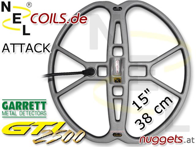 NEL Attack Suchspule Coil Garrett GTI 2500 1500 38cm 15 www.nuggets.at