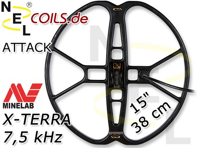 NEL Attack Suchspule Minelab X-TERRA 7,5 kHz Coil Coils Sonde Sonden www.nuggets.at