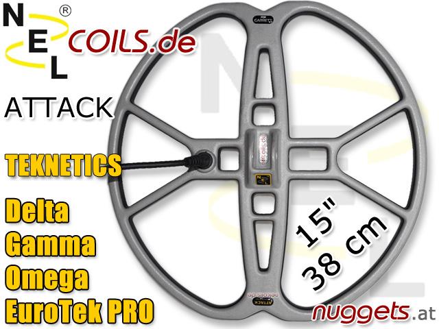NEL AttackSuchspule Teknetics Delta Gamma Omega EuroTek Coil Coils Sonde Sonden www.nuggets.at