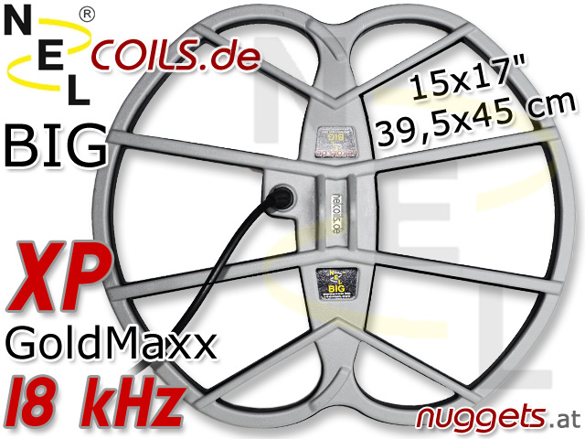 NEL BIG Suchspule Coil XP GoldMaxx 15x17 39,5x45 cm www.nuggets.at www.nelcoils.de