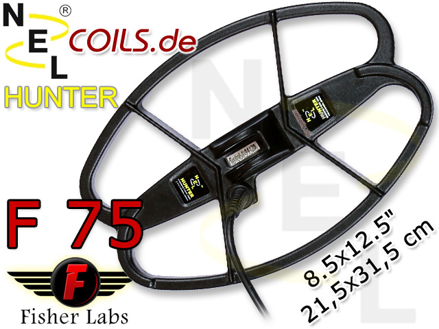 NEL Hunter Suchspule Fisher F75 F 75 Coil Coils Sonde Sonden www.nuggets.at