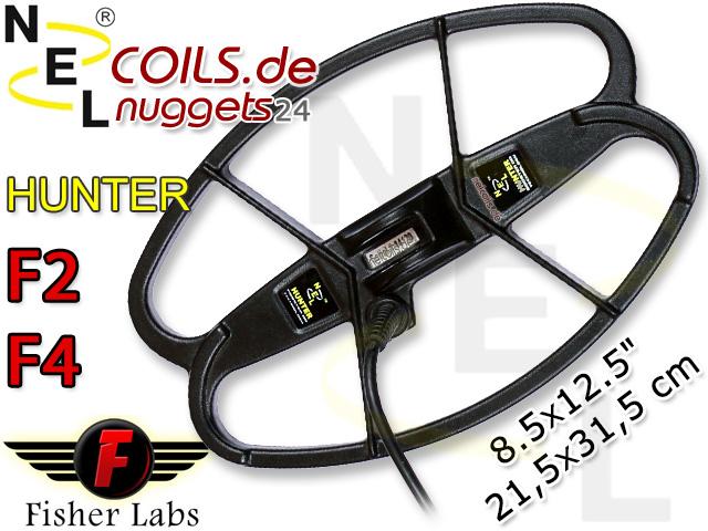 NEL Hunter Suchspule Fisher F2 F4 Coil Coils Sonde Sonden www.nuggets24.de