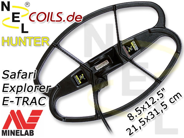 NEL Hunter Suchspule Minelab Safari Explorer E-TRAC Coil Coils Sonde Sonden www.nuggets.at