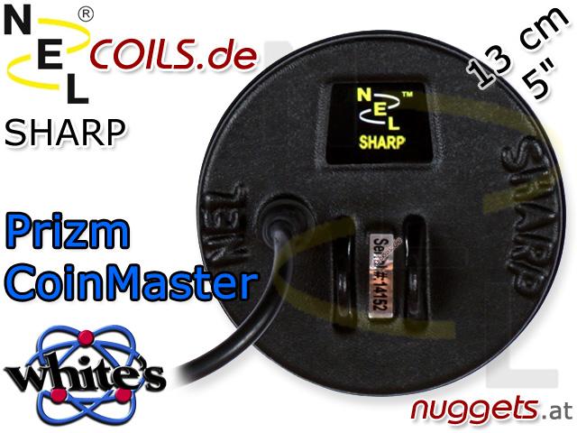 NEL Sharp Suchspule Whites Coinmaster Prizm Coil Coils Sonde Sonden www.nuggets.at