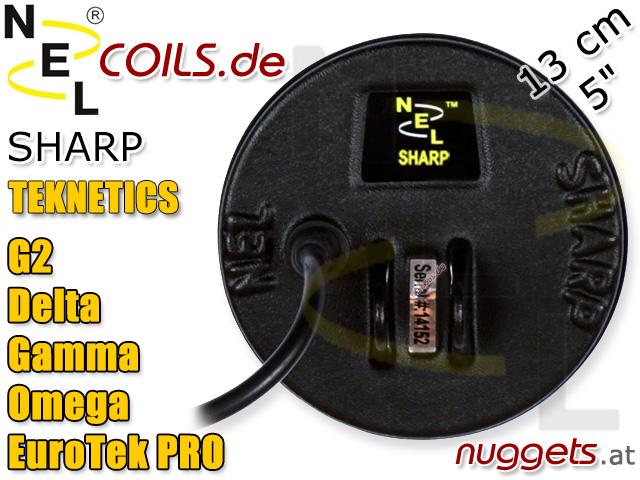 NEL Sharp Suchspule Teknetics G2 Delta Gamma Omega Eurotek PRO Coil Coils Sonde Sonden www.nuggets.at
