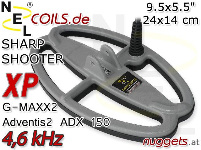 NEL SharpShooterSuchspule XP G-Maxx GMaxx Adventis ADX Coil Coils Sonde Sonden www.nuggets.at
