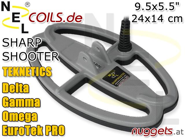 NEL SharpShooterSuchspule Teknetics Delta Gamma Omega EuroTek Coil Coils Sonde Sonden www.nuggets.at