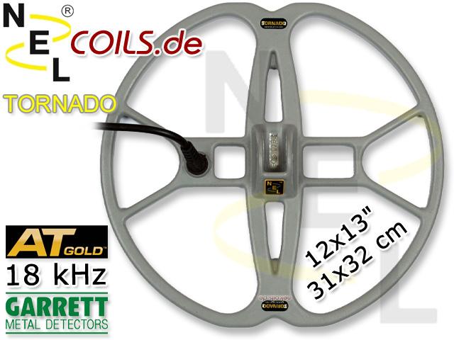 NEL Tornado Suchspule 12x13 Garrett AT GOLD 18 kHz www.nuggets.at www.nelcoils.de Coil Coils Spulen Sonde Sonden Spulen Suchspulen