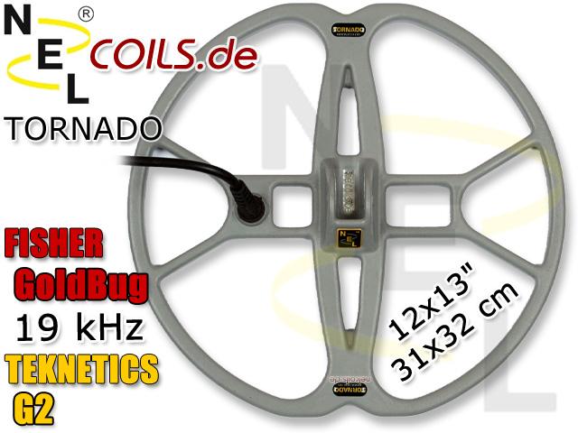 NEL Tornado Suchspule Teknetics G2 Fisher GoldBug Coil Coils Sonde Sonden www.nuggets.at