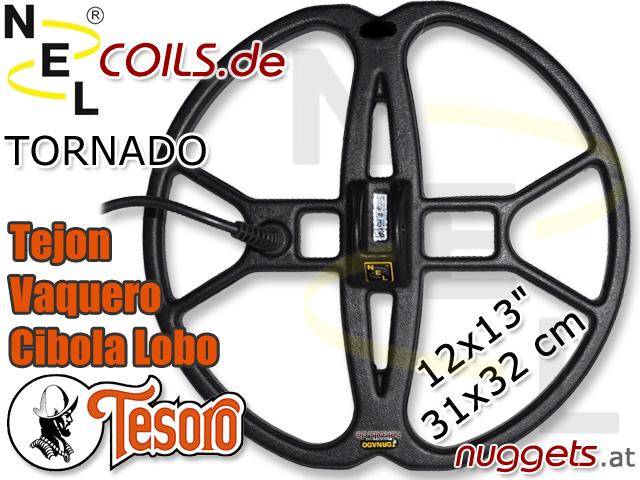 NEL Tornado Suchspule Tesoro Tejon Vaquero Cibola Lobo Gold Coil Coils Sonde Sonden www.nuggets.at
