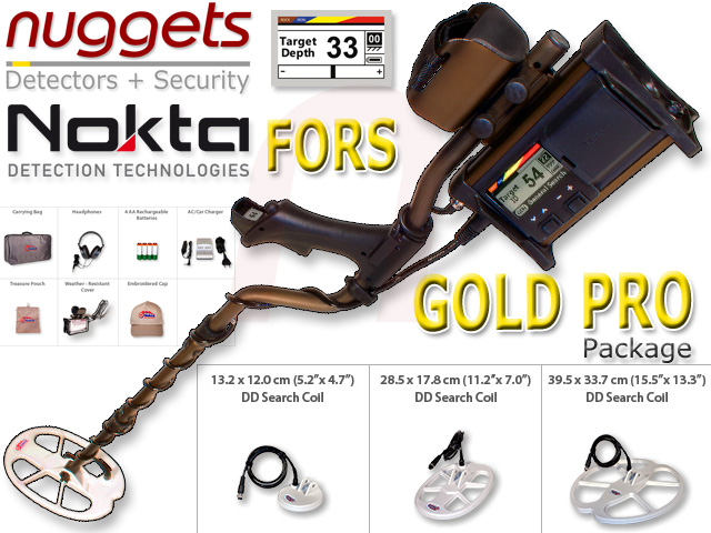 Nokta FORS GOLD Pro Package www.nuggets.at Golddetector Goldsearch Metal Detector