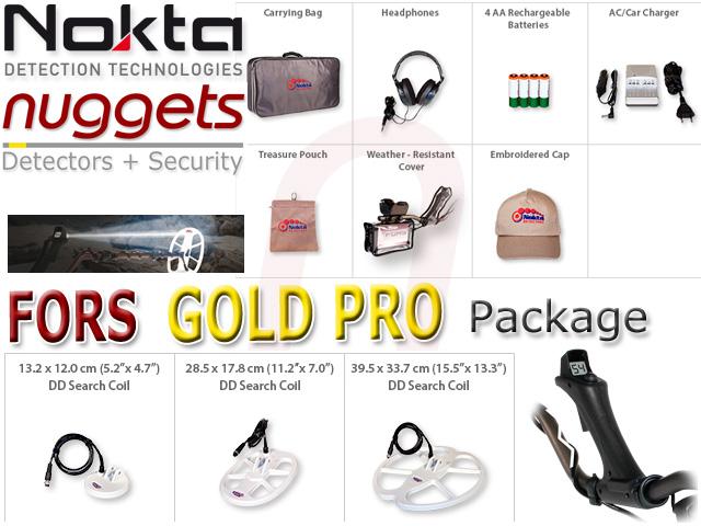 Nokta FORS GOLD Pro Pack www.nuggets.at 3 coils 3 Spulen + accessories Metal Gold Detector for Africa nuggets.at www.noktadetektoren.de