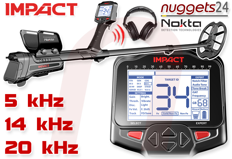 Nokta IMPACT Metalldetektor Multifrequenz nuggets24