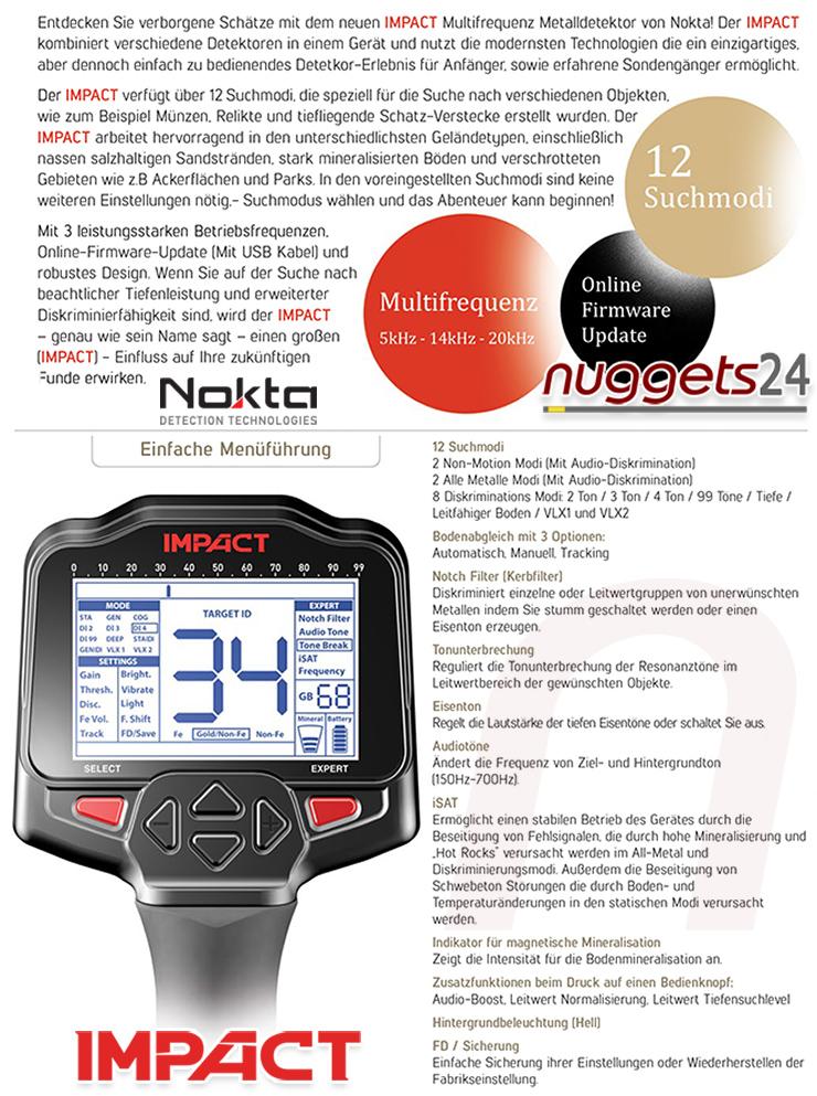 Nokta IMPACT Details Deutsch German nuggets24