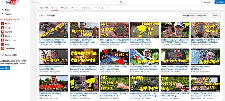 Sondelsüchtig youtube Kanal abonnieren für spannende Schatzsucher Geschichten mit Metalldetektoren und Gewinnspiele