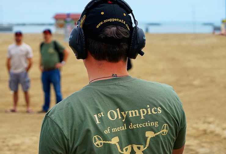 Stefan Sondelsüchtig bei der ersten Metalldetektor Olympiade aller Zeiten ... das nächste Mal gehts aufs Treppchen ... Viel Glück