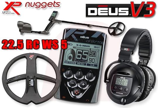 DEUS 22 RC WS5 V3 3.2 Premium SET Metalldetektor