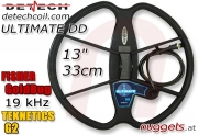 "DETECH Ultimate DD 33 cm 13"" Fisher GoldBug..."