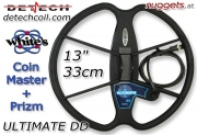 "DETECH ULTIMATE DD 33 cm 13"" WHITES CoinMaster..."