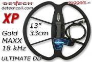 """DETECH Ultimate DD 33 cm 13"""" XP GoldMAXX Coil SuchSpule"""