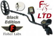 FISHER F75 PRO V2.0 LTD Black 2-Spulen Set Metalldetektor