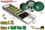 Keene A51 A 51 Sluice Gold Pan KIT Goldwaschrinne + Pfannen