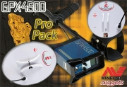 MINELAB GPX 4500 Duo Coil Pro Pack Gold Detector Metalldetektor Export...