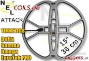 """NEL Attack Teknetics Coil Suchspule 15 """" 38 cm"""