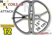 """NEL Attack Teknetics T2 Coil Suchspule 15 """" 38 cm"""