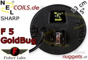 NEL Sharp Fisher F5 GoldBug Coil Suchspule 13 cm 5""